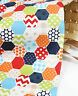 Hexagon Red 100% Cotton fabric Oxford Patch patchwork polka dot checked JB78*