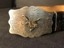 Vintage Childs Toy Leather Western Cowboy Belt Fancy Size 30