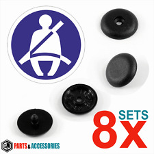 8x sets Plastic Seat Belt Buckle Buttons Holders Studs Retainer Stopper Pin Clip