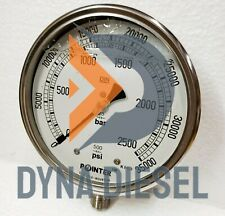 150mm Dial High Pressure Gauge Dual Scale 2500 Bar 35000psi 12 Bsp Connection