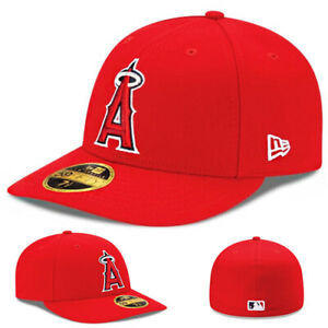 New Era Anaheim Angels Fitted Hat Official MLB Team Classic 2017 Low Profile Cap
