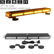"""27"""" Led Emergency Amber Warning Safety Vehicle Tow Truck Rooftop Strobe Lightbar"""