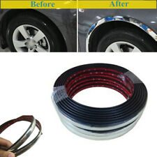 5M Sliver Car Wheel Rubber Eyebrow Protector Lip Arch Trim Fender Strip Part Kit