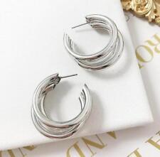 1 Pair Women Multi Style Circle Large Big Linked Hoop Dangle Long Earrings Studs