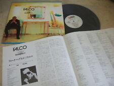 """FALCO WIENER BLUT 1988 JAPAN VINYL LP 12"""" w/INSERT WEA 23P1-2178"""