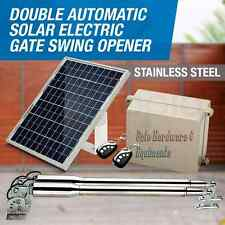 NSEE EM3 Heavy Duty Automatic Dual Swing Gate Opener w/ 22 Watt Solar Panel