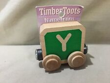 Timber Toots Maple Landmark Woodcraft Wooden Y Name Train Compat w Thomas Brio