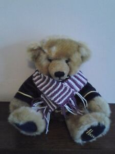 "HAND KNITTED  12"" STRIPE SCARF FOR YOUR TEDDY BEAR."