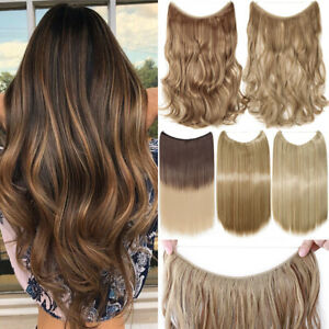 """16-24"""" Real  Invisible Wire Band One Piece Natural As Human Hair Extensions"""
