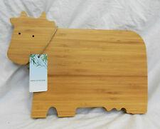 Cow Design Bamboo Chopping Board - BNIB