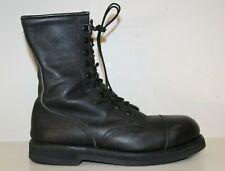 Addison Mens Steel Cap Toe Black Leather Tactical Military Combat Boot Sz 10 R
