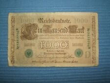 German 1000 Mark Reichsbanknote BERLIN April 1910 ,Circulated large banknote