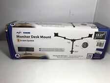 "AVF MRC1204-A Dual Arm Monitor Desk Mount, for 13""- 27"" Screens Black NIB"