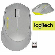 Logitech M320 Wireless Mouse Optical NEW RETAIL PC Laptop Mac SILVER/ YELLOW