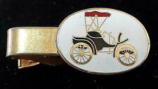 Vintage Antique Automobile cloisonne tie clip
