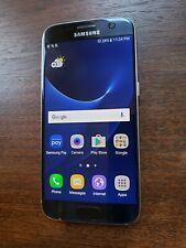 Samsung Galaxy S7 SM-G930R6 (Unlocked) 32GB Black Smartphone - LIGHT SCREEN BURN