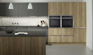 Reclaimed Oak Feature Slab Kitchen units & doors Rigid Built (Second Nature)