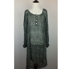 Gypsy Junkies High Low Dress Womens M/L Sheer Boho Gray