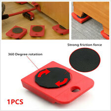 1PCS Furniture Move Tool Transport Heavy Shifter Moving Wheel Slider Roller Red