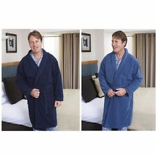 Mens Champion Luxury Micro Fleece Wrapover Bathrobe Dressing Gown Lounge Wear