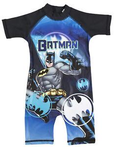 Boys DC Comics Batman Sun Suit Kids Holiday Pool Swimming Costume Surf Suit Size