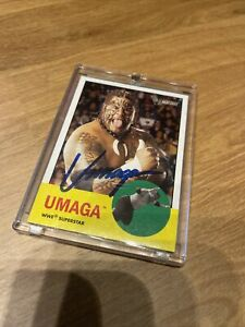 Umaga Autographed Signed Card AUTHENTIC WWE WWF RIP