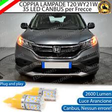 COPPIA LAMPADE T20 WY21W CANBUS 35 LED FRECCE ANTERIORI HONDA CR-V MK4 NO ERROR