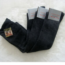 3 Pair Men's Knee Socks with Cotton without Elastic Wide Waistband Grey 39 - 46