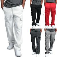Mens Club Fleece Joggers Track Trouser Hip Hop Sweat Jogging Pants Loose Bottoms