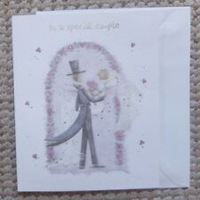 to a special couple on your wedding day Greetings Card