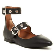 Steve Madden Iridessa Women's Black Leather Pointed Toe Flat Sz 8.5M 2615