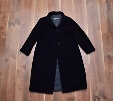 Jil Sander Women's Wool Angora Coat 40 Mint Navy-Black Luxury msrp1200$