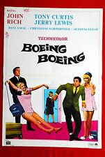 BOEING BOEING JERRY LEWIS TONY CURTIS 1965 RARE EXYU MOVIE POSTER