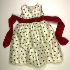 Marmellata Girls Christmas Embroidered Holly Dress 3T