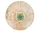 Jet Rose Quartz Orgone Tea Coaster Flower of Life Round 3.5 Inch Diameter Approx