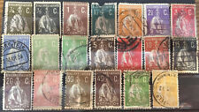 20  SELLOS  PORTUGAL  1912  1917  CERES  USADOS