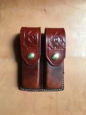 Triple K Brand Leather Cylinder Pouch For Six Shooter. Hunting