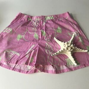Tibi Womens Shorts sz6 Casual Pink/Green Sporty Preppy Casual Active