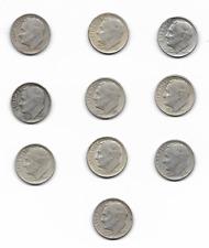New listing 10 Roosevelt Silver Dime Mix Denver Mint
