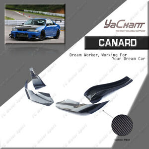 Carbon Fiber For 95-98 Nissan Skyline R33 GTR OEM Front Bumper AS Style Canards