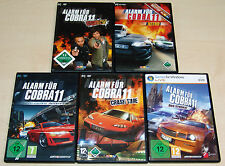 5 PC SPIELE SET - ALARM FÜR COBRA 11 - NITRO CRASH TIME SYNDIKAT HIGHWAY NIGHTS