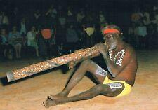 Postcard Australien Australia Australie Aborigine Didgeridoo Springvale NT Musik