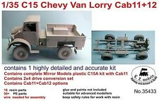 LZ MODELS C15 CHEVY VAN LORRY CAB 11+12 + 2X4 RESIN DRIVE SET 1/35 Cod.35433