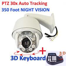 HD 1200TVL 30x Auto Tracking SONY CMOS PTZ Dome CCTV Security Camera 3D Keyboard