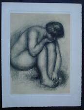 Auguste Renoir (d'après) - Femme nue assise - Gravure #1952