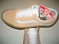 Vans Mens Old Skool Double Light Gum Apricot White Suede Skate shoes Size 8 NWT