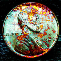 """*RARE* 1948 Lincoln Wheat Cent- """"Beautifully Toned"""" SUPERB MS++ GEM++ BU++ 06"""
