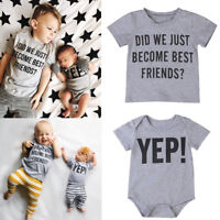 Infant Kids Baby Sister Letter Brother Matching Clothes T shirt Tops Outfits