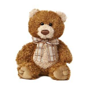 8 Inch Small Brown Sugar Bear Aurora Plush Stuffed Animal Toy Cute Cuddly Teddy