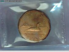1987 Canadian One Dollar(Loonie) ICCS Certified MS-66